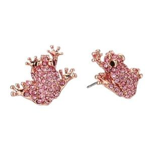 KATE SPADE • Swamped Crystal Frog Earrings